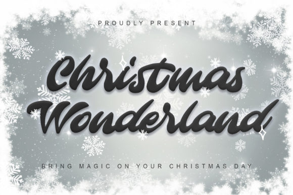 Print on Demand: Christmas Wonderland Script & Handwritten Font By thomasaradea