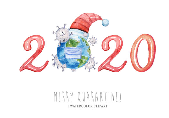 Christmas Quarantine Clipart Graphic Illustrations By Tiana Geo
