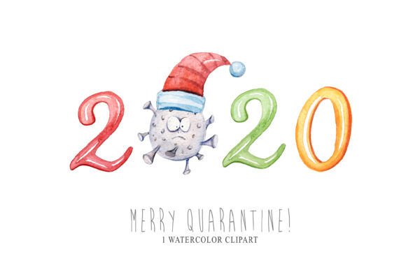 Print on Demand: Christmas Quarantine Clipart. Pandemic Graphic Illustrations By Tiana Geo