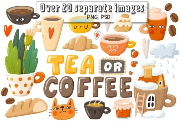 Print on Demand: Coffee Doodle Clipart Graphic Illustrations By Architekt_AT