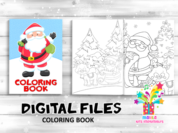 Coloring Book Santa Claus Activities Graphic Coloring Pages & Books Kids By marilakits