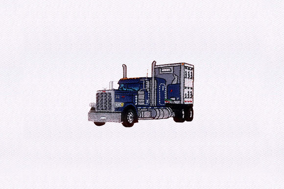 Crafted Truck Design Transportation Embroidery Design By DigitEMB