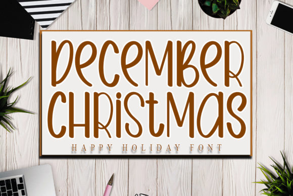 Print on Demand: December Christmas Display Schriftarten von NYA Letter