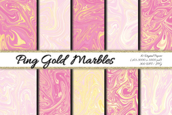 Digital Paper Ping Gold Background Graphic Backgrounds By PrisonerRabbit