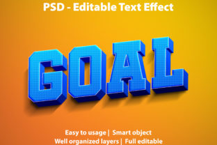 Print on Demand: Editable Text Effect Goal Premium Gráfico Plantillas Gráficas Por yosiduck