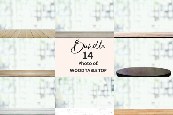 Empty Wooden Table Top of Free Space Graphic Backgrounds By Avadesing