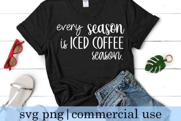Print on Demand: Every Season is Iced Coffee Graphic Crafts By inlovewithkats