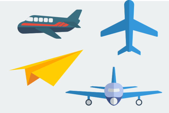 Flat Style Aeroplane Illustration Icons Graphic Web Elements By faqeeh