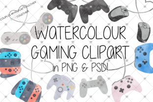 Print on Demand: Gamer, Gaming, Watercolour, Graphic Illustrations By CommercialCliparts