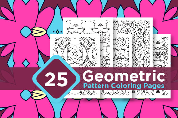 Print on Demand: Geometric Coloring Pattern Design Set Graphic Coloring Pages & Books Kids By Riduwan Molla