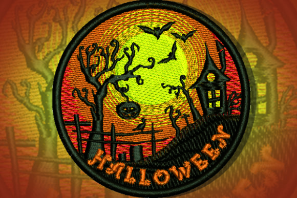 Halloween Patch Halloween Embroidery Design By Samsul Huda