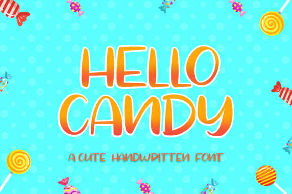 Print on Demand: Hello Candy Display Font By FatmaStudio