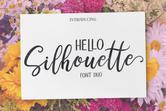 Print on Demand: Hello Silhouette Script & Handwritten Font By Samrenal