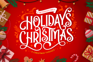 Print on Demand: Holidays Christmas Display Font By Holydie Studio