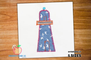 Light House Applique Design Beach & Nautical Embroidery Design By embroiderydesigns101