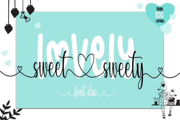 Print on Demand: Lovely Sweet Sweety Manuscrita Fuente Por Fillo Graphic