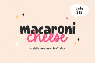 Print on Demand: Macaroni Cheese Display Font By Salt & Pepper Designs
