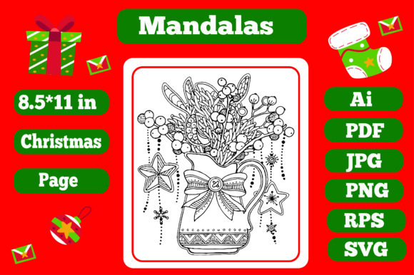 Print on Demand: Mandala Christmas for Adults 11 - Kdp Graphic Coloring Pages & Books Adults By KDP_Interior_101