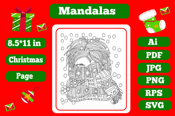 Print on Demand: Mandala Christmas for Adults 12 - Kdp Graphic Coloring Pages & Books Adults By KDP_Interior_101