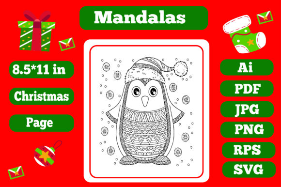 Print on Demand: Mandala Christmas for Adults 14 - Kdp Graphic Coloring Pages & Books Adults By KDP_Interior_101