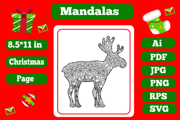 Print on Demand: Mandala Christmas for Adults 15 - Kdp Graphic Coloring Pages & Books Adults By KDP_Interior_101