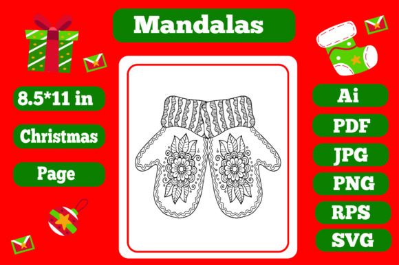 Print on Demand: Mandala Christmas for Adults 17 - Kdp Graphic Coloring Pages & Books Adults By KDP_Interior_101