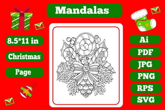 Print on Demand: Mandala Christmas for Adults 19 - Kdp Graphic Coloring Pages & Books Adults By KDP_Interior_101