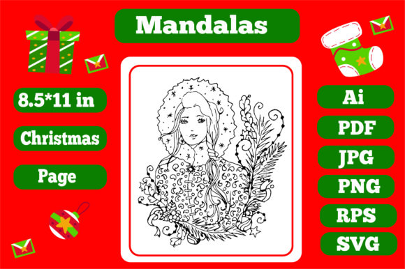 Print on Demand: Mandala Christmas for Adults 2 - Kdp Graphic Coloring Pages & Books Adults By KDP_Interior_101