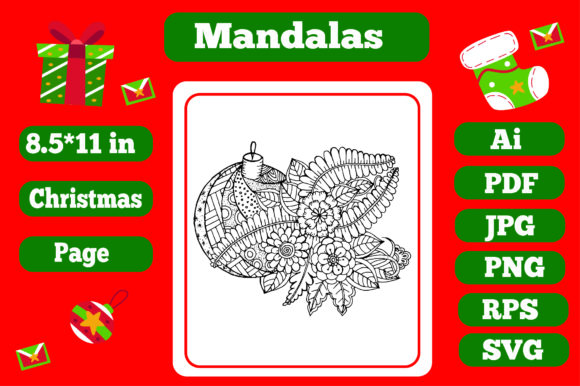 Print on Demand: Mandala Christmas for Adults 20 - Kdp Graphic Coloring Pages & Books Adults By KDP_Interior_101