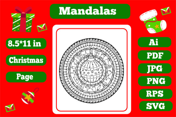 Print on Demand: Mandala Christmas for Adults 3 - Kdp Graphic Coloring Pages & Books Adults By KDP_Interior_101