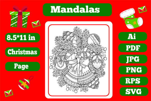 Print on Demand: Mandala Christmas for Adults 5 - Kdp Graphic Coloring Pages & Books Adults By KDP_Interior_101