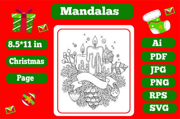 Print on Demand: Mandala Christmas for Adults 6 -Kdp Graphic Coloring Pages & Books Adults By KDP_Interior_101