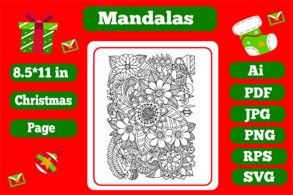 Print on Demand: Mandala Christmas for Adults 8 -Kdp Graphic Coloring Pages & Books Adults By KDP_Interior_101