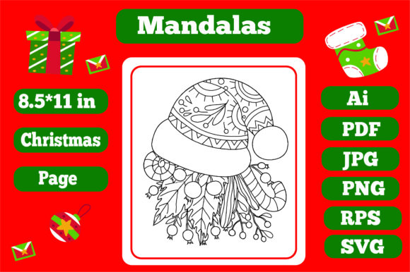 Print on Demand: Mandala Christmas for Adults 9 - Kdp Graphic Coloring Pages & Books Adults By KDP_Interior_101
