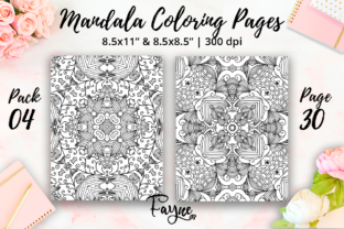 Print on Demand: Mandala Coloring Book Pack 04 | KDP Graphic Coloring Pages & Books Adults By Fayne