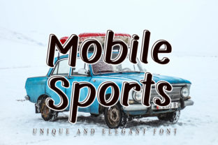 Print on Demand: Mobile Sports Display Font By NYA Letter