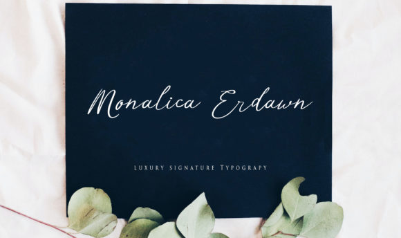 Print on Demand: Monalica Erdawn Script & Handwritten Font By Brilian Studio