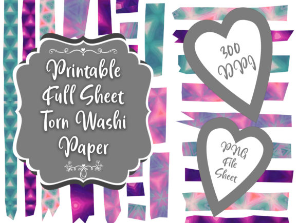 Print on Demand: Neon Lovecraft Color Washi Tape Clipart Graphic Illustrations By Whiskey Black Designs