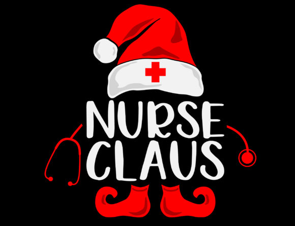 Nurse Claus Christmas Medical Santa Graphic Crafts By NiceToMeetYou