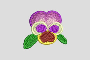 Print on Demand: Pansy Flower Bud Single Flowers & Plants Embroidery Design By EmbArt