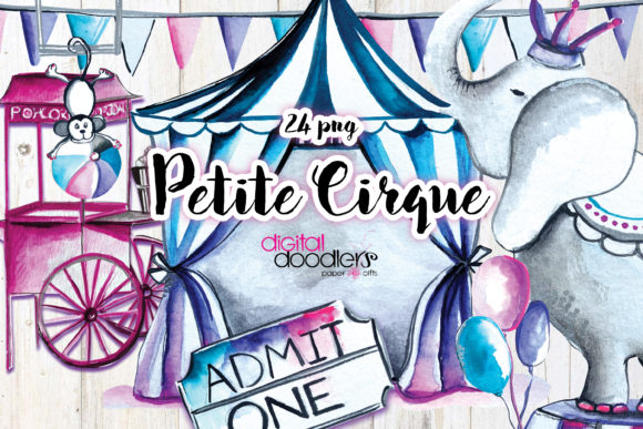 Print on Demand: Petite Cirque Graphic Illustrations By Digital Doodlers