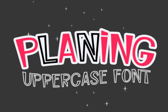 Print on Demand: Planing Display Font By Sulthan Studio