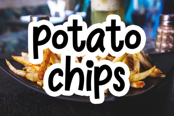 Print on Demand: Potato Chips Display Font By NYA Letter