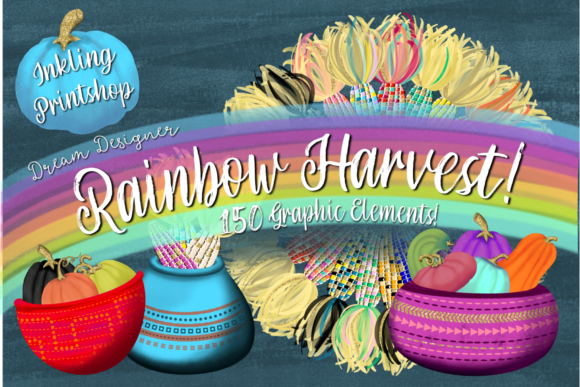 Print on Demand: Rainbow Harvest Fall Graphics 150 Set Graphic Illustrations By Inkling Printshop