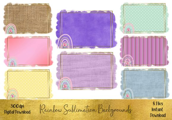 Rainbow Sublimation Backgrounds Graphic Backgrounds By STBB