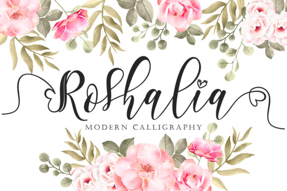 Print on Demand: Roshalia Script & Handwritten Font By yogaletter6