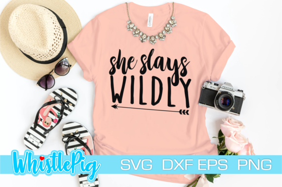Print on Demand: She Slays Wildly Inspirational Woman Graphic Crafts By Whistlepig Designs