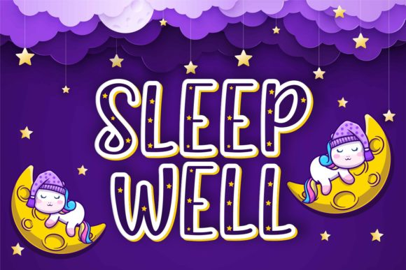 Print on Demand: Sleep Well Display Font By zainstudio