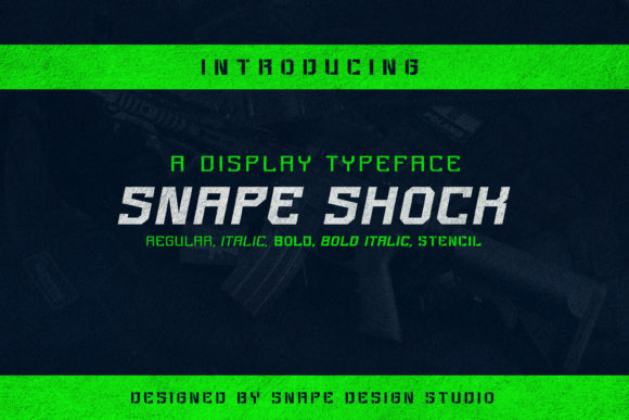 Print on Demand: Snape Shock Display Font By snapedsgn