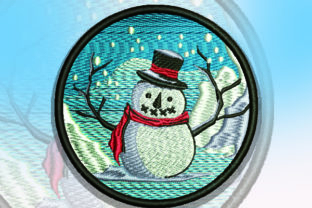 Print on Demand: Snowman Patch Christmas Embroidery Design By Samsul Huda